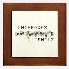 Lunchboxes Genius Framed Tile