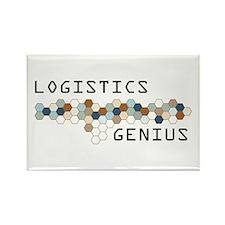 Logistics Genius Rectangle Magnet