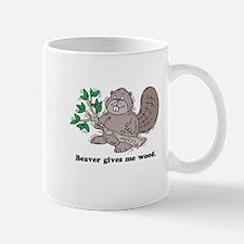 Beaver gives me Wood Mug