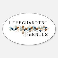Lifeguarding Genius Oval Decal