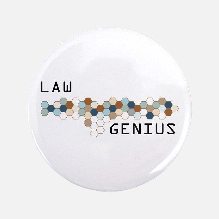 "Law Genius 3.5"" Button (100 pack)"