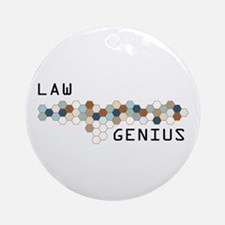 Law Genius Ornament (Round)