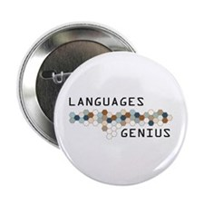 "Languages Genius 2.25"" Button"