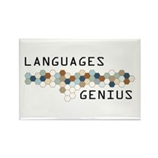 Languages Genius Rectangle Magnet