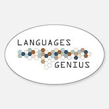 Languages Genius Oval Decal