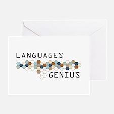 Languages Genius Greeting Card