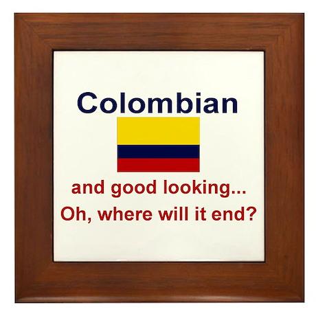 Good Looking Colombian Framed Tile