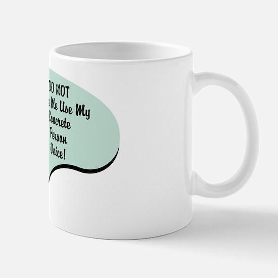 Concrete Person Voice Mug