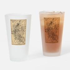 Vintage Battle of Bull Run Map (188 Drinking Glass