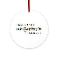 Insurance Genius Ornament (Round)