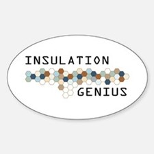 Insulation Genius Oval Decal