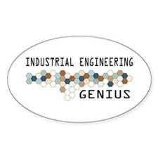 Industrial Engineering Genius Oval Decal