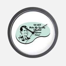 Chemical Engineer Voice Wall Clock