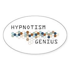 Hypnotism Genius Oval Decal