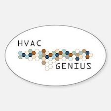 HVAC Genius Oval Decal