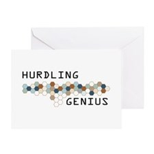 Hurdling Genius Greeting Card
