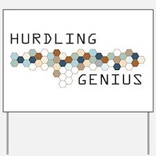Hurdling Genius Yard Sign