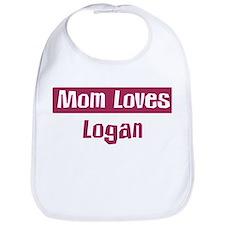 Mom Loves Logan Bib