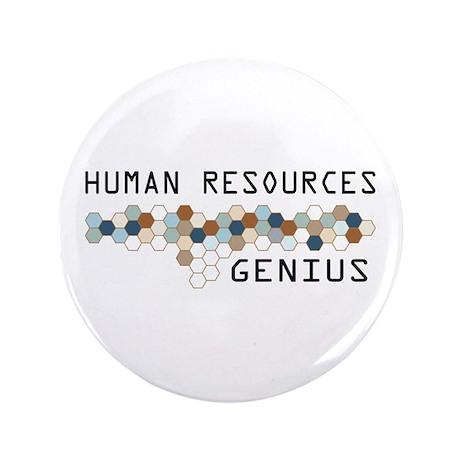 "Human Resources Genius 3.5"" Button"