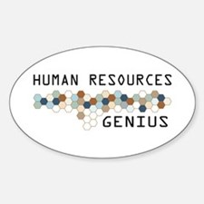 Human Resources Genius Oval Decal
