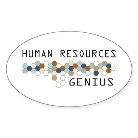 Human Resources Genius Oval Sticker (10 pk)