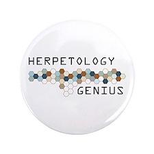 """Herpetology Genius 3.5"""" Button"""