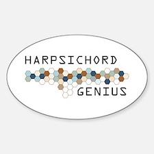 Harpsichord Genius Oval Decal