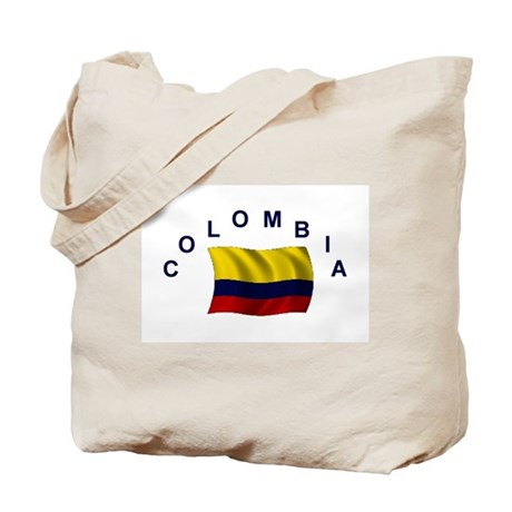 Colombia Flag Tote Bag