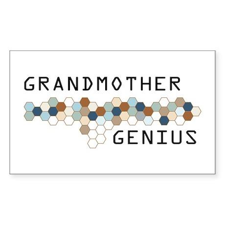Grandmother Genius Rectangle Sticker
