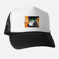 Blue & Gold Graphic Trucker Hat