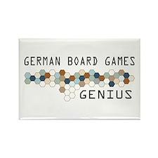 German Board Games Genius Rectangle Magnet