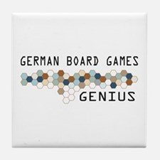 German Board Games Genius Tile Coaster