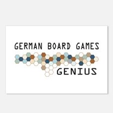 German Board Games Genius Postcards (Package of 8)
