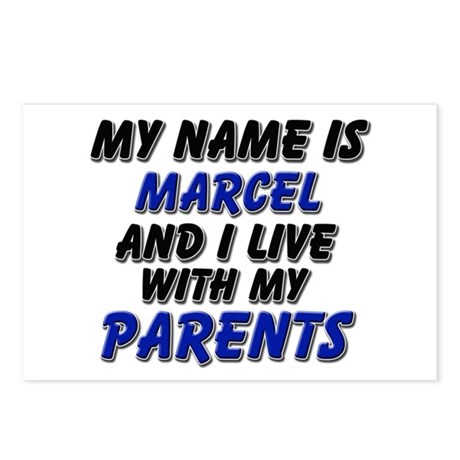 my name is marcel and I live with my parents Postc