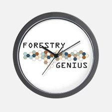 Forestry Genius Wall Clock