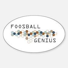 Foosball Genius Oval Decal