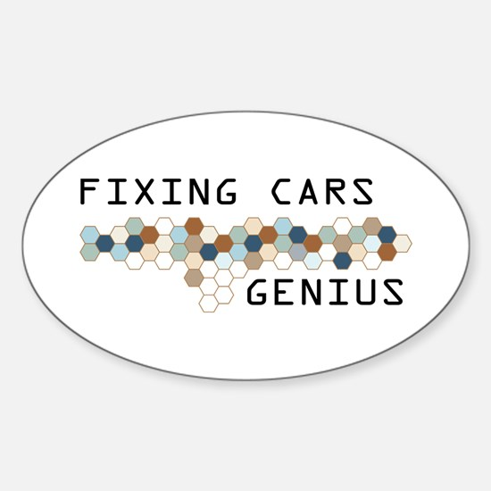 Fixing Cars Genius Oval Decal
