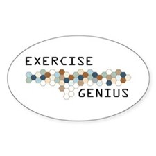 Exercise Genius Oval Decal