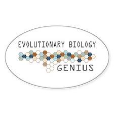 Evolutionary Biology Genius Oval Decal