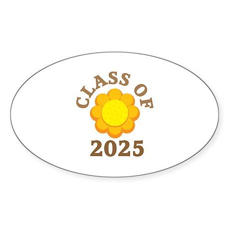 Class Of 2025 Logo Oval Sticker