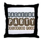 Bachelor Drinking Team Throw Pillow