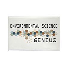 Environmental Science Genius Rectangle Magnet