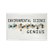 Environmental Science Genius Rectangle Magnet (10