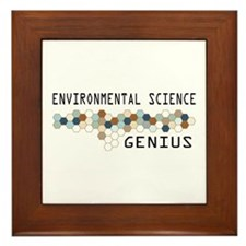 Environmental Science Genius Framed Tile