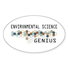 Environmental Science Genius Oval Decal
