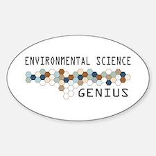 Environmental Science Genius Oval Decal