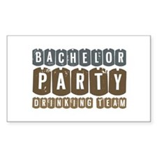 Bachelor Drinking Team Rectangle Sticker 10 pk)