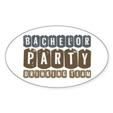 Bachelor Drinking Team Oval Decal