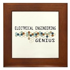 Electrical Engineering Genius Framed Tile