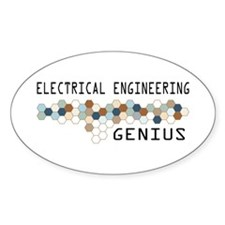 Electrical Engineering Genius Oval Decal